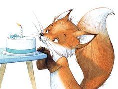 Fuchs Illustration, Manga Illustration, Character Illustration, Illustrations, Colorful Drawings, Art Drawings, Wolf Kids, Happy Birthday Illustration, Baby Animal Drawings