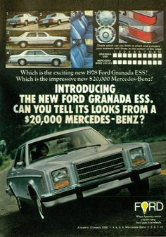 1978 Ford Granada ESS 4 Door Sedan