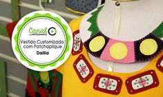 Vestido Customizado com Patchaplique  -Dalila