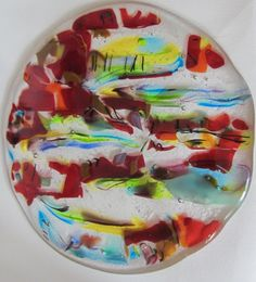 """""""Chinoise"""" - Fused Glass hanging. 20 cm diameter"""