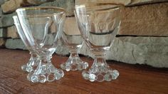 Anchor Hocking Candlewick Juice Glasses 1940s D026 by VintageRoseandLace