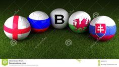 UEFA-EURO 2016 Bälle Mit Der Flagge Von Gruppe B England Russland Wal Redaktionelles Stockfoto - Bild: 68281213