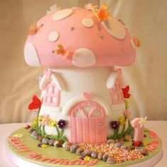 Cute fairy house cake
