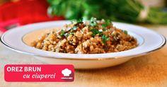 orez brun cu ciuperci Bacon Stuffed Mushrooms, Chimichurri, Chicken Bacon, Creamy Chicken, Smoothie Bowl, Fried Rice, Avocado, Health, Nasi Goreng