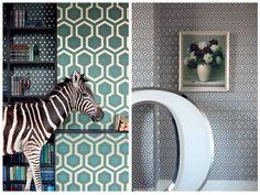 Charlotte Minty Interior Design: Geometric Wallpaper