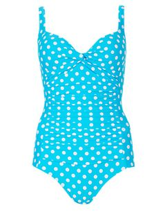 b748140823 Secret Slimming™ Twisted Front Spotted Swimsuit