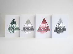 A5 Christmas Card with Handmade Lace Bobbin Lace Christmas