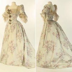 """3,874 Likes, 15 Comments - The Corseted Beauty (@the_corsetedbeauty) on Instagram: """"Chine silk evening dress by House of Worth, ca. 1890. Liberty Hall Museum💖"""""""