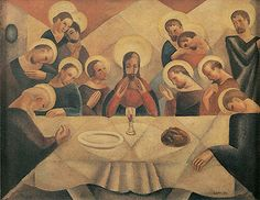 Santa Ceia ca. 1929   Antonio Gomide óleo sobre tela, c.i.d. 52.40 x 65.70 cm