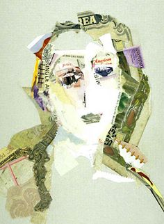 Collage portraits by Julie Heller, via Behance. love the idea of using negative space.