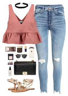 """""""Untitled #326"""" by sallizzlmynizzl ❤ liked on Polyvore featuring Elizabeth and James, Chinese Laundry, Prada, Miss Selfridge, Jo Malone, Illesteva, Yves Saint Laurent, Olivine, Becca and NARS Cosmetics"""