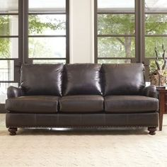 Lane Nubuck Leather Sofa