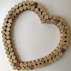 Wine Cork Heart Wall Decor /Bulletin Board -Large. 32.00, via Etsy.