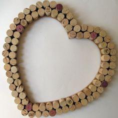 Wine Cork Heart Wall Decor /Bulletin Board -Large. 32.00, via Etsy.