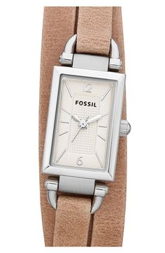 Fossil 'Delaney' Leather Strap Watch available at #Nordstrom