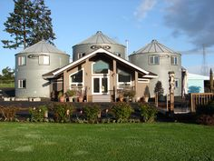 Abbey Road Farm B - Three converted silos in Oregon Oregon Hotels, Silo House, State Of Oregon, Willamette Valley, Old Faithful, Historic Properties, Farm Barn, Oregon Travel, Abbey Road