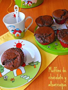 Muffins de chocolate y albaricoque