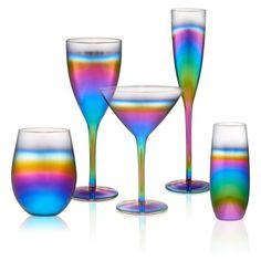 Artland Rainbow Goblet, Set of - Rainbow Kitchen Items, Kitchen Decor, Rainbow Kitchen, Kitchenware, Tableware, Home Tools, Girly, Kitchen Accessories, Rainbow Colors