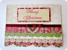 The Ruffled Christmas Card | 49 Awesome DIY Holiday Cards