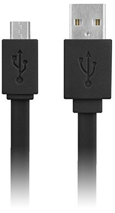 """myLife Dim Black {Solid Flat Noodle Design} 6' Feet (1.8 Meter) Quick Charge USB 2.0 Micro USB to USB Data Sync Cord for Phones, Cameras, Tablets and GPS Devices """"SEE COMPATIBILITY"""" (Durable Rubber Coat) myLife Brand Products http://www.amazon.com/dp/B00OAJ6WLI/ref=cm_sw_r_pi_dp_tK.tub13BAXBQ"""