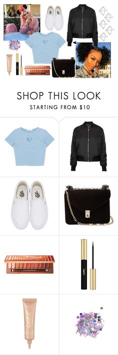 """Save your love and buy me diamonds"" by dancer-242 ❤ liked on Polyvore featuring Topshop, Vans, Valentino, Urban Decay, Yves Saint Laurent, tarte, The Gypsy Shrine and Umbra"