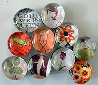 Marble magnets - cute idea