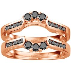 #blackdiamondgem 0.54CT Black Diamonds Royalty Inspired Half Halo Ring Guard Enhancer set in Rose Gold Plated Sterling Silver (0.54CT TWT Black Diamonds)by TwoBirch - See more at: http://blackdiamondgemstone.com/jewelry/054ct-black-diamonds-royalty-inspired-half-halo-ring-guard-enhancer-set-in-rose-gold-plated-sterling-silver-054ct-twt-black-diamonds-com/#sthash.od0nXrde.dpuf