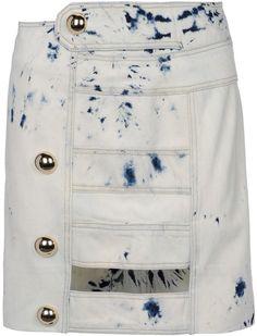 Love this: ANTHONY VACCARELLO Blue Denim Skirt @Lyst