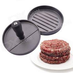 Kitchen Hamburger Press Meat Patty Mold Maker - Silvery Grey