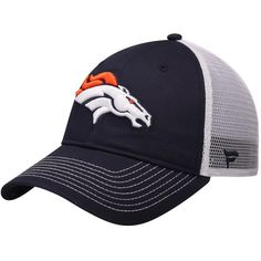16e8f0482a8 Denver Broncos NFL Pro Line by Fanatics Branded Core Trucker II Adjustable  Snapback Hat - Navy