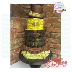 Steampunk themed Wedding Cake-Cake International 2015 - Cake by Vintage Cake Fairy