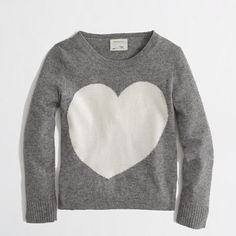 Factory girls' warmspun heart sweater