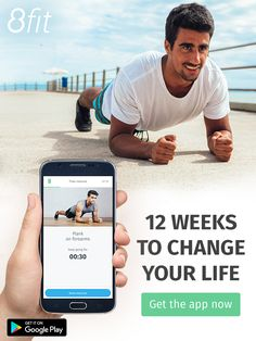 Download the app!  8fit is your mobile personal trainer. Enjoy quick workout routines combined with a simple healthy meal planner tailored for you. Whether your goal is to lose weight, get fit or gain weight, join millions of 8fitters who are getting results and living a sustainable, happy, healthy lifestyle.