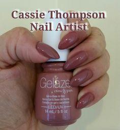 China Glaze Gelaze's Dress Me Up almond nails by Cassie Thompson nail artist of Vancouver WA Follow me on Instagram @ctnailartist