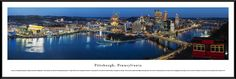 Pittsburgh Skyline Panoramic Picture Framed