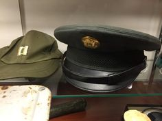 Military hats are great! The captain's hat on the left was from a Vietnam-era reservist. The dress hat on the right is also from the Vietnam era. Military Hats, Dress Hats, Vietnam, Captain Hat, Fashion, Moda, Fashion Styles, Fashion Illustrations