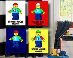 Popular Items For Lego Wall Art On Etsy