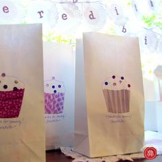Washi Tape for Parties / Fiestas cute food bag