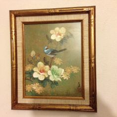 Vintage blue bird Artistic Interiors by VicsVintageCloset on Etsy, $28.00