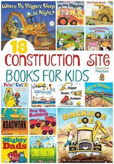 18 Construction Site Books for Kids | http://homeschoolpreschool.net