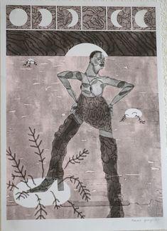 """""""Blackstar"""" de Romane Granger Risographie D'après le court métrage Rebirth Is Necessary"""