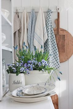 spring time + blue and white decor