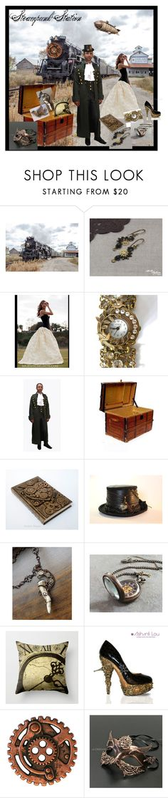 """Steampunk Station"" by seamsvictorian ❤ liked on Polyvore featuring Masquerade"