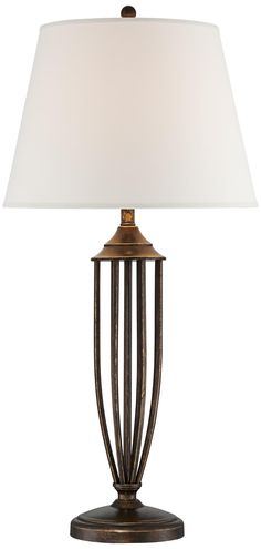 Bronze Open Caged Urn Table Lamp | LampsPlus.com