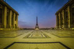 Eiffel tower from Trocadero, Blue Hour by Benjamin Lefebvre on 500px