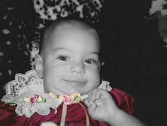 Kayla as a baby, using GIMP with masking.