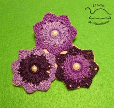 Broche de flor de ganchillo (II)