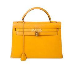Hermes Kelly 32 in Yellow, drool...