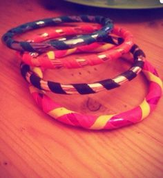 #selfmade Mini hoop's bracelet !  Taped like youre favorite Hoop <3  *** Easy DiY ****