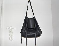 for Browngurl  big black bag Dai oversized  crossover by weltfremd, €225.00
